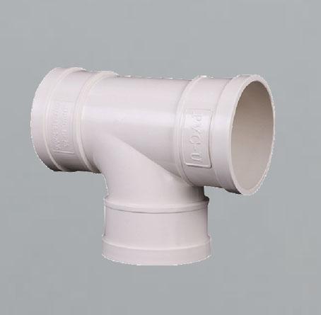 PVC90°顺水三通